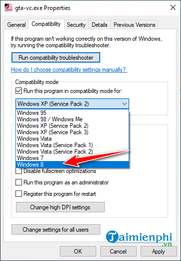 Cách sửa lỗi không dùng được chuột trong GTA Vice City trên Windows 10
