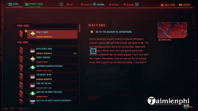 how to play it safe in cyberpunk 2077