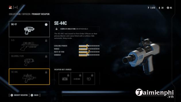 Cách mở khóa tất cả vũ khí game Star Wars Battlefront II