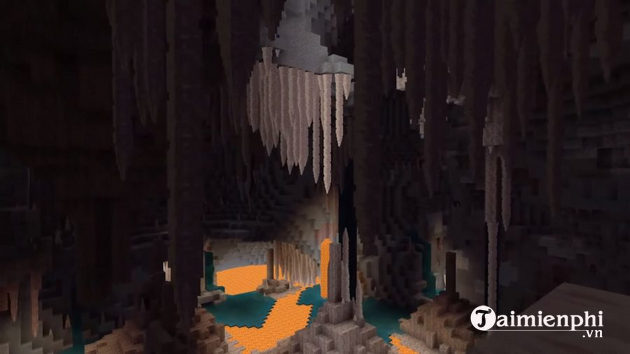 Ban cap nhat minecraft caves and cliffs has something new