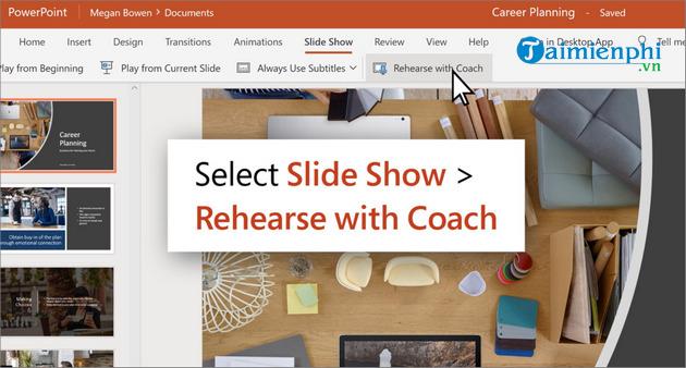 Microsoft Presenter Coach sử dụng AI giúp bài thuyết trình PowerPoint hoàn thiện hơn