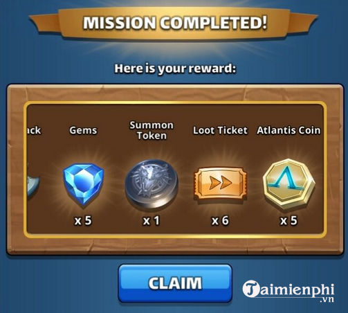 cach nhan mien phi gems trong empires puzzles