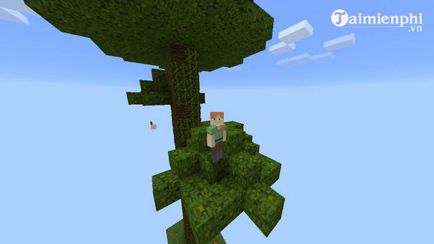 cach choi che do skyblock trong minecraft