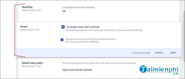 cach livestream voi google meet