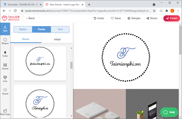 website lam and create logo mien Phi