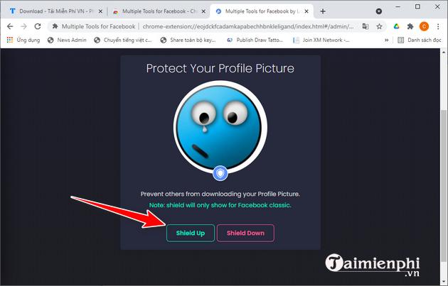 Cách bảo vệ ảnh đại diện Facebook với Multiple Tools for Facebook
