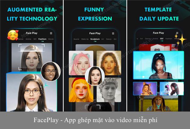 app ghep mat vao video cua minh