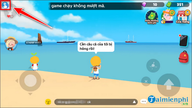 cach auto cau ca trong play together tren dien thoai android