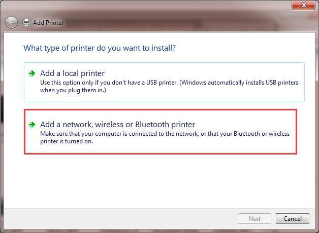 Máy tính không nhận máy in 10