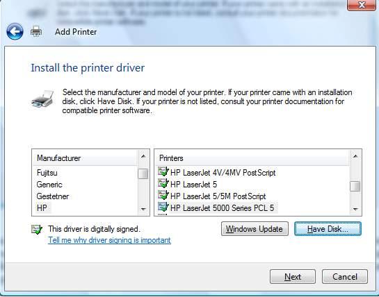 Máy tính không nhận máy in 13