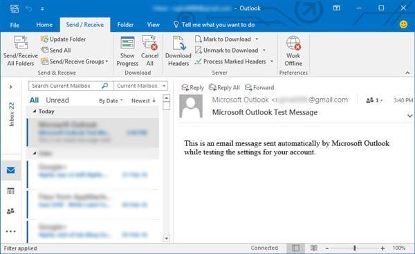 Cài gmail vào Outlook 2016 với IMAP 10