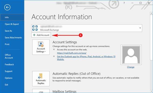 Cài gmail vào Outlook 2016 với IMAP 3
