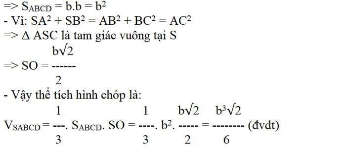 Công thức tính thể tích hình chóp 3