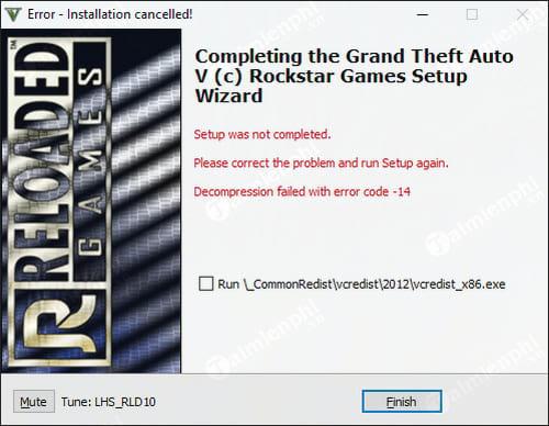 Sửa lỗi Setup was not completed khi cài đặt GTA 5