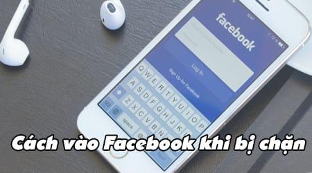 vao facebook tren iphone khi bi chan