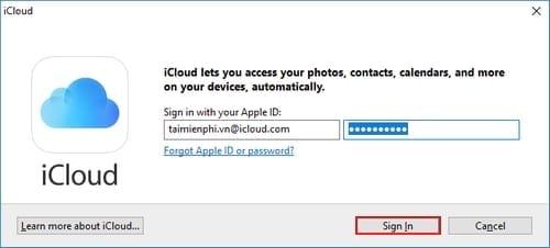 Đăng nhập iCloud trên máy tính 4