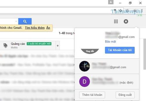 Cách mở nhiều Email, Gmail cùng lúc trên máy tính