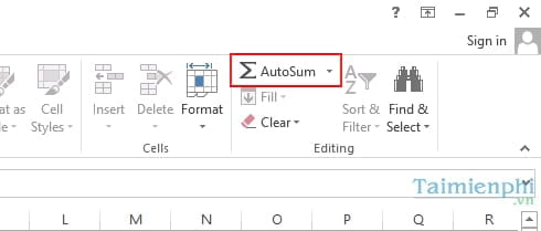 3 cách tính tổng trong Excel 3