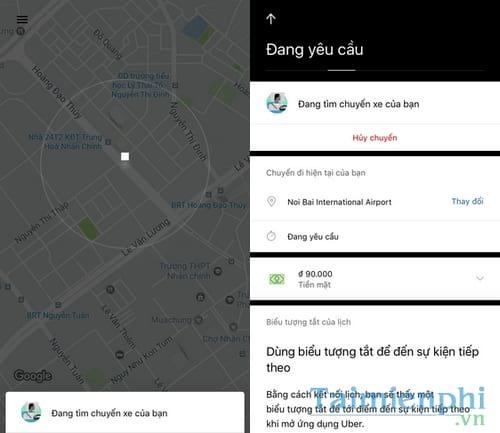 Cách gọi xe ôm Uber, gọi Uber Moto 5