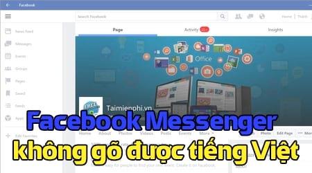 facebook messenger khong go duoc tieng viet
