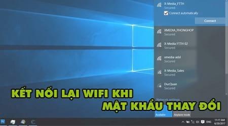 cach ket noi lai wifi khi mat khau wifi thay doi