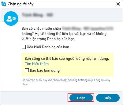 cach chan ket ban skype 8