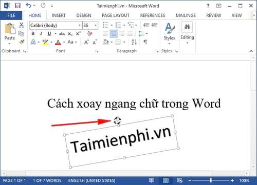 Cách xoay ngang chữ trong Word 2