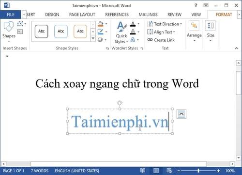 Cách xoay ngang chữ trong Word 4