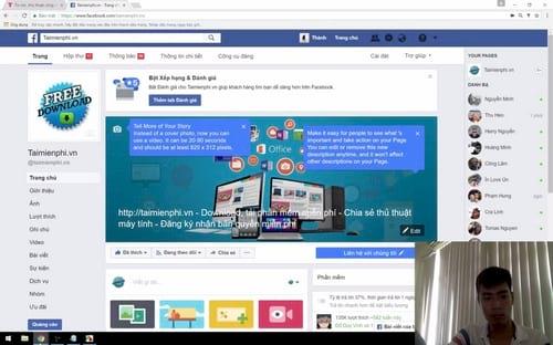 Chỉnh vị trí webcam khi Live Stream Video trên Facebook
