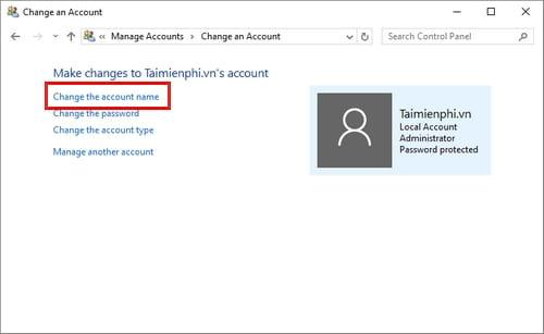 Cách đổi tên tài khoản Windows 10, edit user name 6