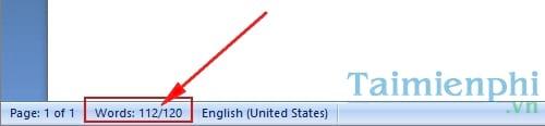 Cách đếm số từ trong Word, đếm ký tự word 5