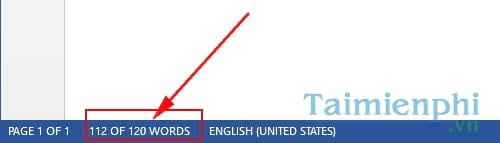 Cách đếm số từ trong Word, đếm ký tự word 8