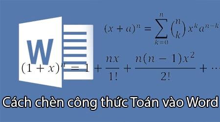 chen cong thuc toan vao word