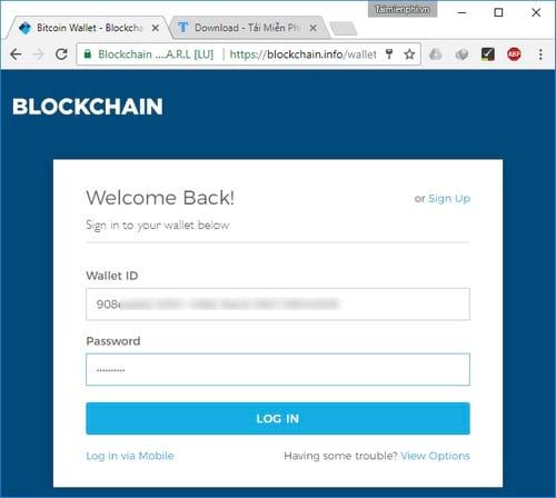 Cách tạo ví Bitcoin Blockchain, đăng ký tài khoản Bitcoin 6