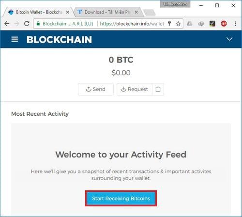 Cách tạo ví Bitcoin Blockchain, đăng ký tài khoản Bitcoin 7