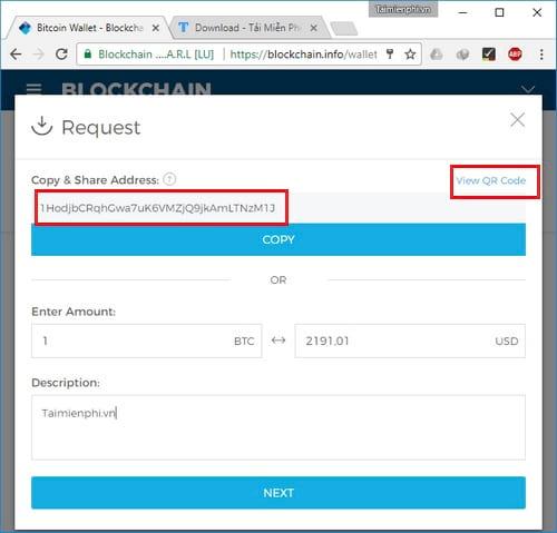Cách tạo ví Bitcoin Blockchain, đăng ký tài khoản Bitcoin 8