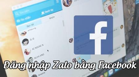 dang nhap zalo bang facebook nhu the nao