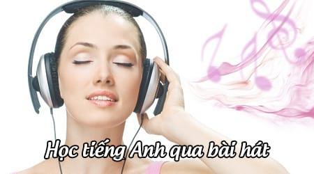 hoc tieng anh qua bai hat phu de song ngu