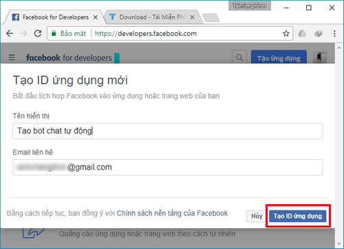 cach tao bot chat facebook