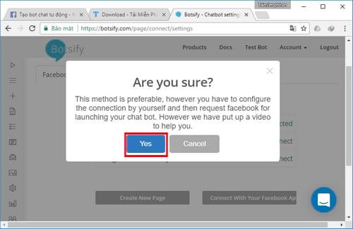 Tự tạo chatbot Facebook, trả lời tin nhắn tự động Messenger 24