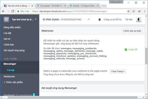 Tự tạo chatbot Facebook, trả lời tin nhắn tự động Messenger 28