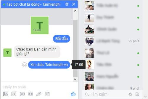 Tự tạo chatbot Facebook, trả lời tin nhắn tự động Messenger 30