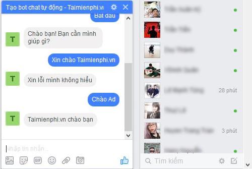 Tự tạo chatbot Facebook, trả lời tin nhắn tự động Messenger 31