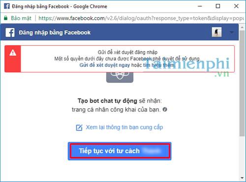 tu tao bot chat tu dong tren facebook messenger 7