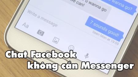 chat facebook khong can cai mesenger