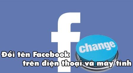 Doi ten facebook tren dien thoai