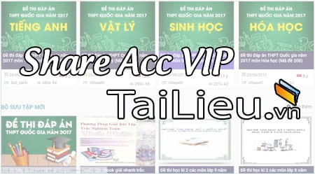 Share Acc VIP tailieu.vn