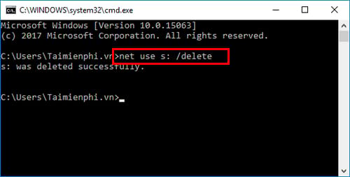 cach map network drive bang command prompt tren windows 6