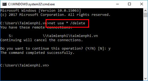 cach map network drive bang command prompt tren windows 7