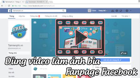 dung video lam anh bia fanpage facebook